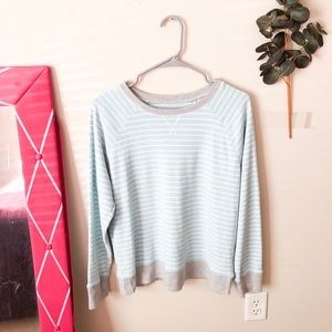 Eddie Bauer Light Blue Stripe Long Sleeve
